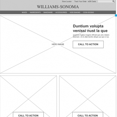 Williams-Sonoma Microsite
